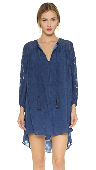 Derek Lam 10 Crosby Floral Dress with Tassel Ties