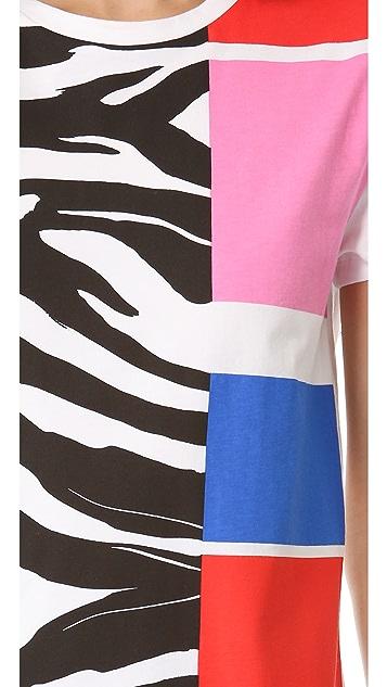 Etre Cecile Zebra Colorblock Tee