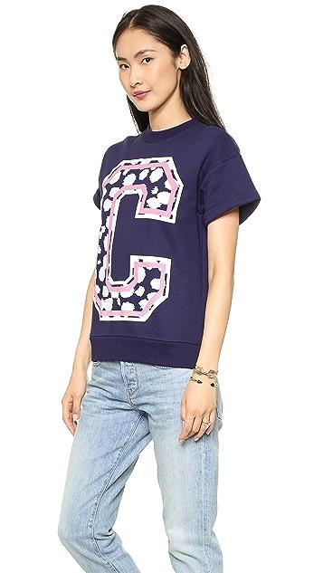 Etre Cecile Big C Cheetah Sweatshirt