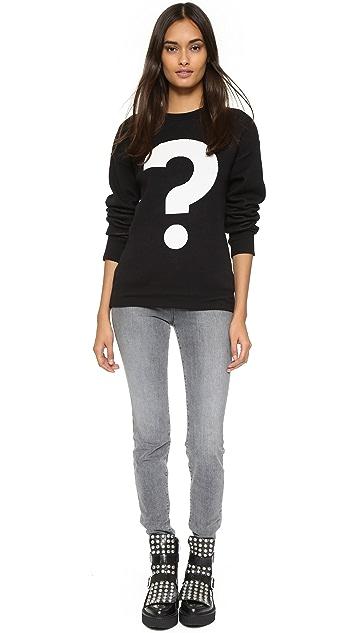 Etre Cecile Question Mark Boyfriend Sweater