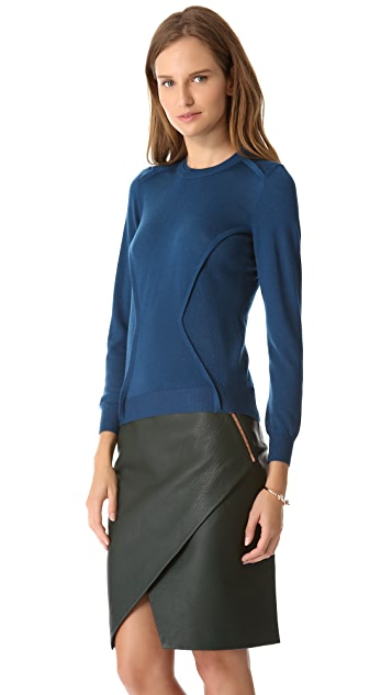 Cedric Charlier Seamed Sweater