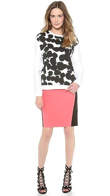 Cedric Charlier Cotton Pencil Skirt