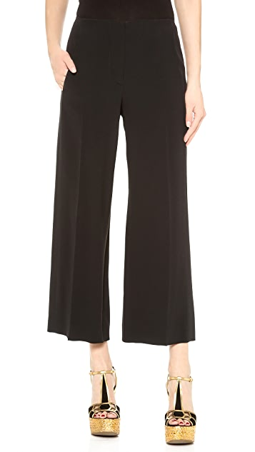 Cedric Charlier Cropped Wide Leg Pants
