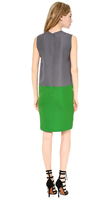 Cedric Charlier Pique Sleeveless Dress