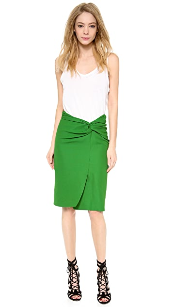 Cedric Charlier Pique Tie Front Skirt
