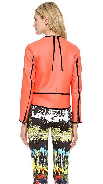 Cedric Charlier Faux Leather Jacket