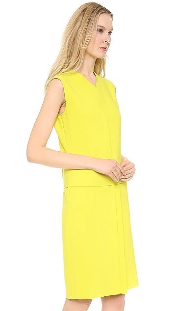 Cedric Charlier Pique Colorblock Dress
