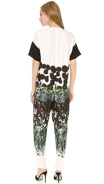 Cedric Charlier Printed Short Sleeve Jumpsuit