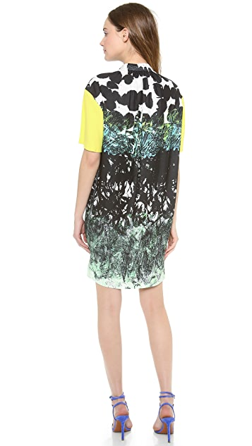 Cedric Charlier Printed Short Sleeve Dress