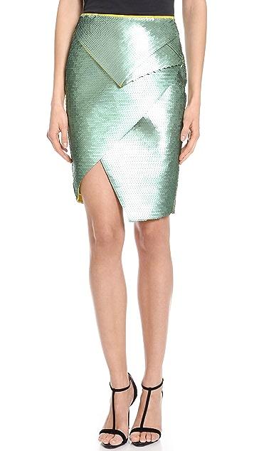 Cedric Charlier Sequin Skirt