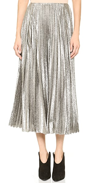 Cedric Charlier Pleated Maxi Skirt