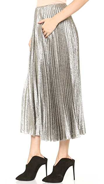 Cedric Charlier Pleated Maxi Skirt