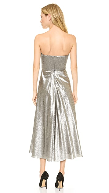 Cedric Charlier Strapless Dress