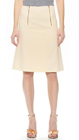 Cedric Charlier Double Zip Skirt