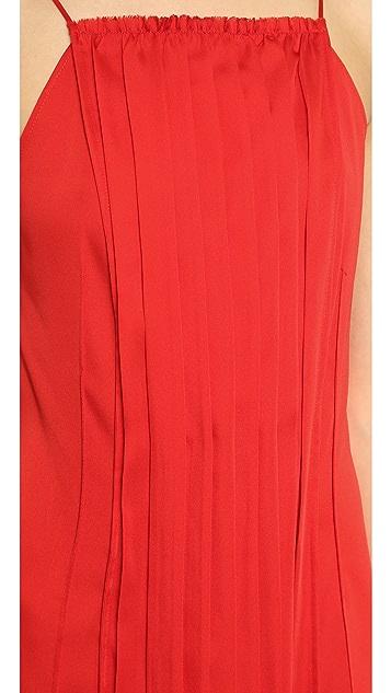 Cedric Charlier Pleated Split Hem Dress