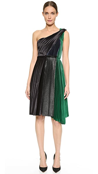 Cedric Charlier One Shoulder Dress - Black