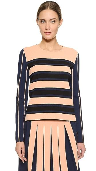 Cedric Charlier Slinky Stripe Sweater