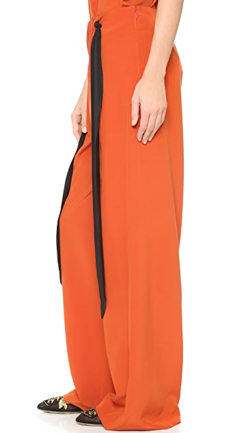 Cedric Charlier Wide Leg Trousers