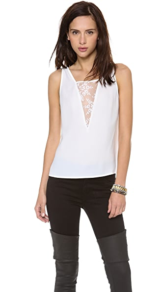 Cooper & Ella Angela Deep V Neck Lace Tank