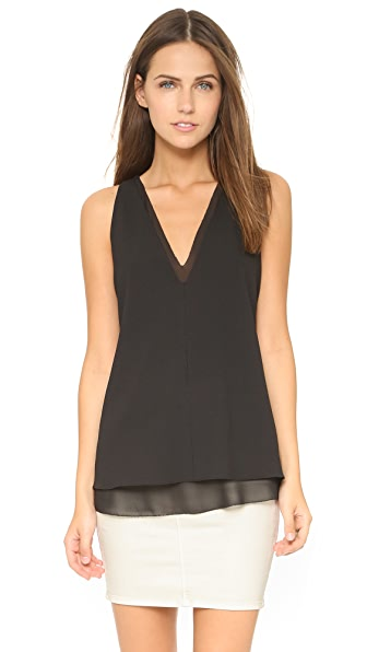 Cooper & Ella Harper Double V Tank In Black