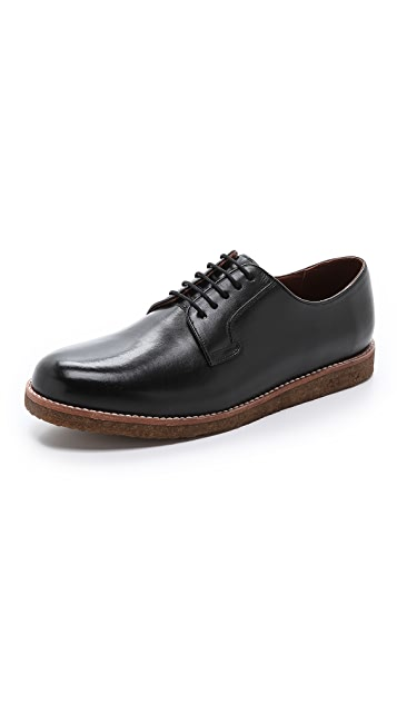 Centre Commercial Army Leather Shoes