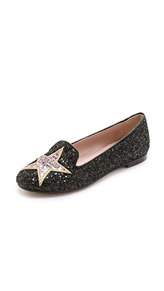 Chiara Ferragni Glitter Hollywood Star Flats