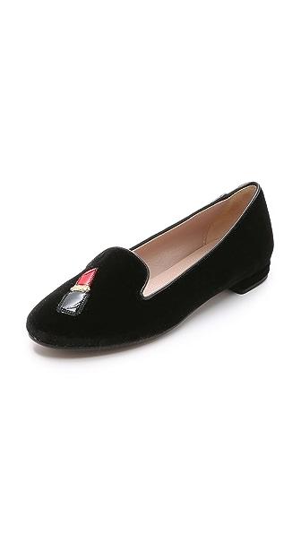 Kupi Chiara Ferragni online i prodaja Chiara Ferragni Lips Smoking Slippers Black haljinu online