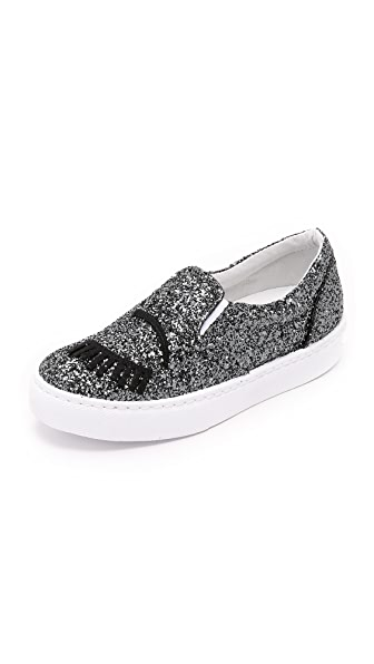 Chiara Ferragni Wink Slip On Sneakers - Charcoal