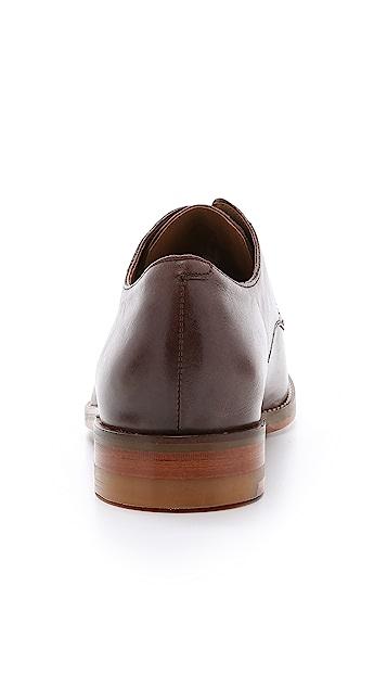 Cole Haan Cambridge Plain Toe Tumbled Leather Oxfords