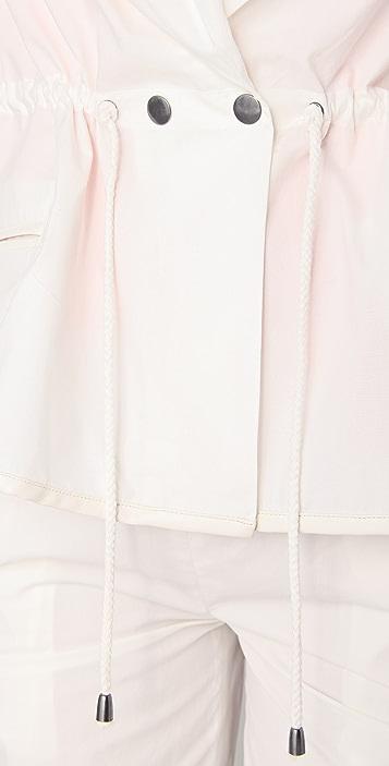 Chalayan Grey Line Scarf Jacket