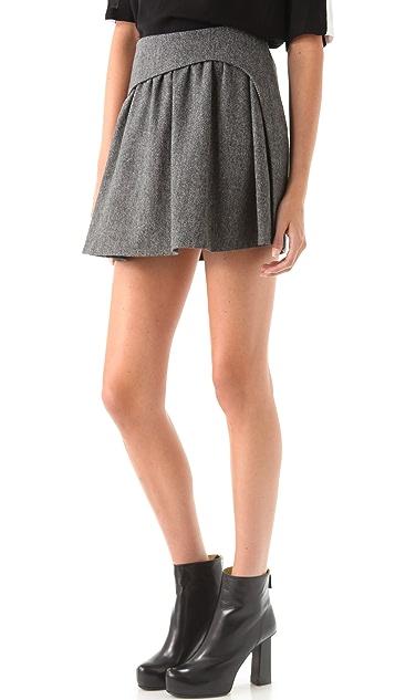 Chalayan Grey Line Frame Herringbone Skirt