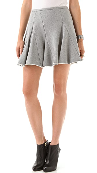 Chalayan Grey Line Bark Skirt