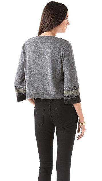 Chalayan Grey Line Intarsia Sweater