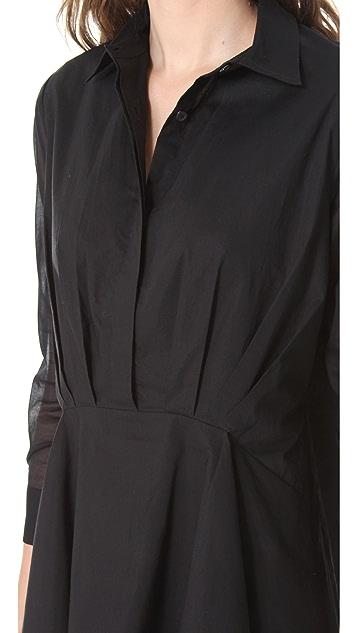 Chalayan Grey Line Handkerchief Shirt Tunic
