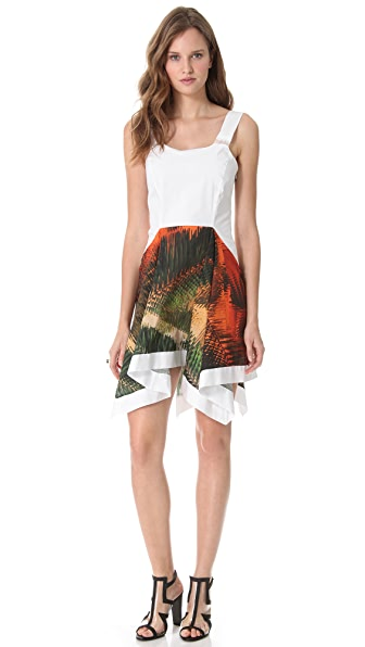 Chalayan Grey Line Handkerchief Sleeveless Dress