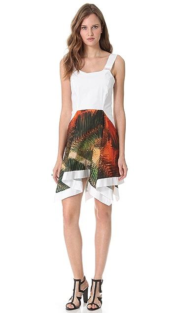 Chalayan Grey Line Handkerchief Sleeveless Dress