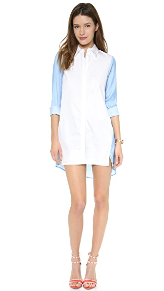 Chalk Mallet Shirt Dress