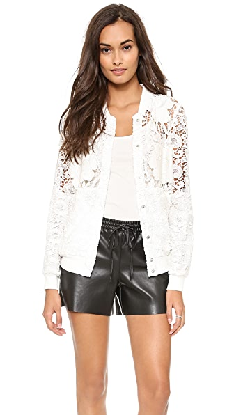 Chalk Polo Lace Jacket