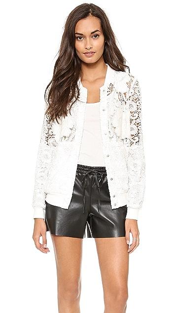Chalk Polo Lace Jacket