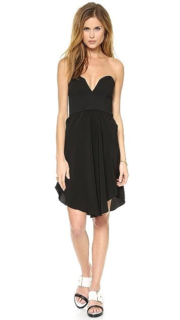 Chalk Hook Strapless Dress