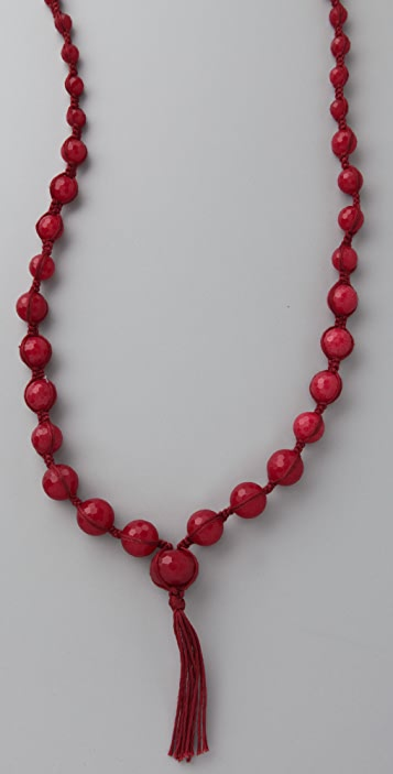 Chan Luu Deep Red Tassel Necklace