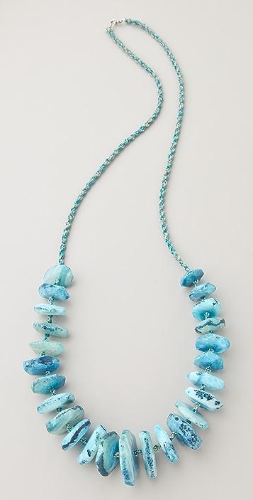 Chan Luu Graduated Agate Stone Necklace
