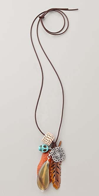 Chan Luu Antique Bone Charm Necklace