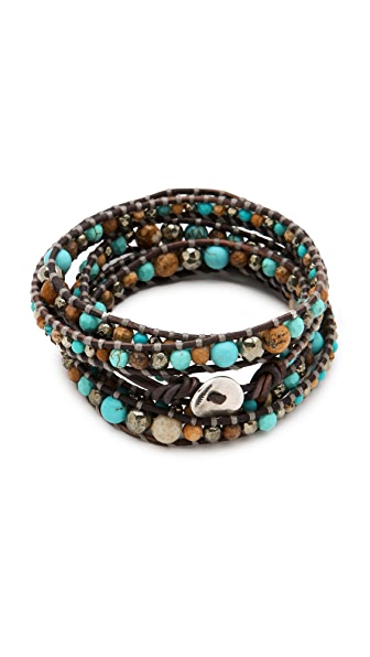 Chan Luu Turquoise Mix Wrap Bracelet
