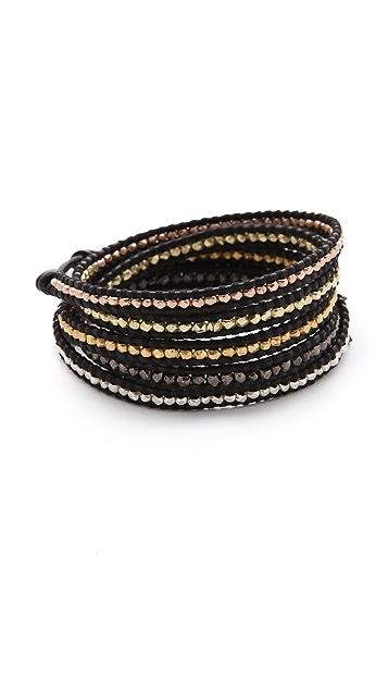 Chan Luu Mixed Nugget Wrap Bracelet
