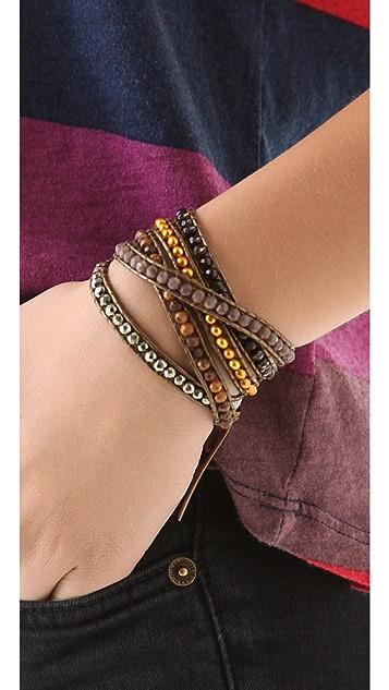 Chan Luu Gold Pearl Wrap Bracelet