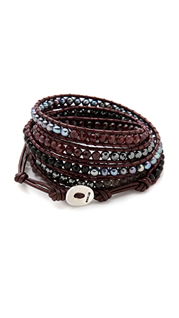 Chan Luu Peacock Freshwater Pearl Wrap Bracelet
