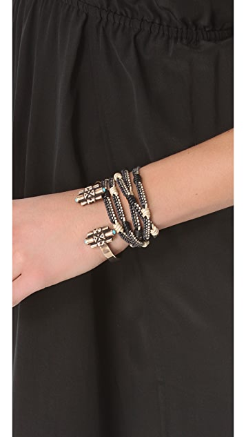Chan Luu Black & Natural Wrap Bracelet