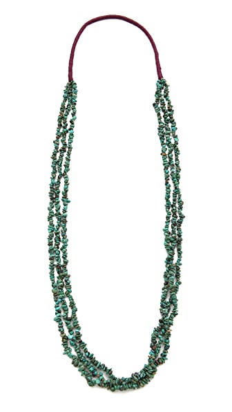 Chan Luu Multi Strand Stone Necklace