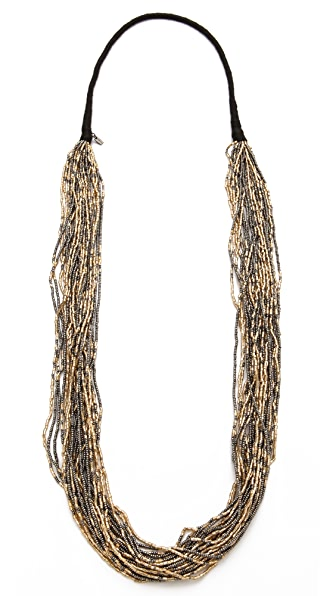 Chan Luu Metallic Beaded Necklace